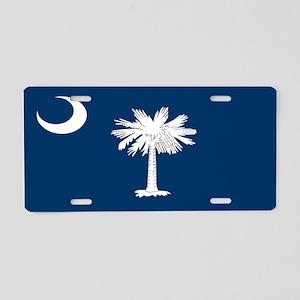 """South Carolina Flag"" Aluminum License P"