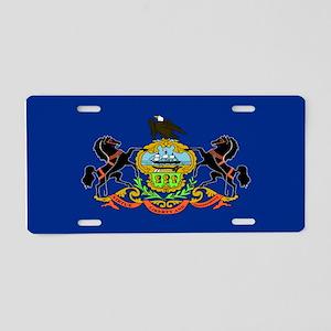 """""""Pennsylvania Flag"""" Aluminum License Pla"""