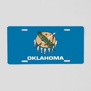 """Oklahoma Flag"" Aluminum License Plate"