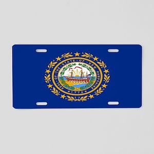 """""""New Hampshire Flag"""" Aluminum License Pl"""
