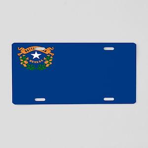 """Nevada Flag"" Aluminum License Plate"