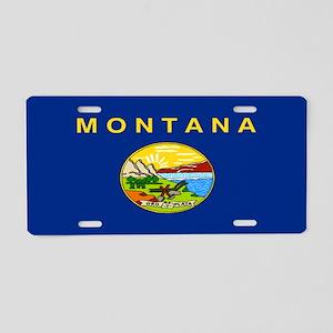 """Montana Flag"" Aluminum License Plate"