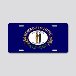 """Kentucky Flag"" Aluminum License Plate"