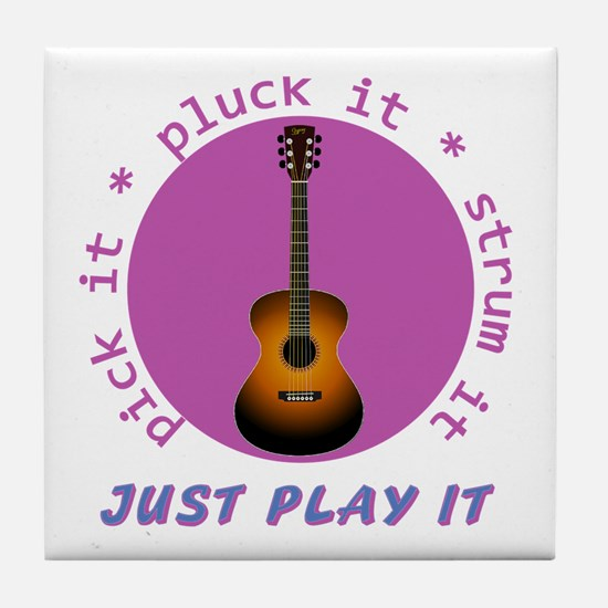 Just Play It - Guitar Tile Coaster