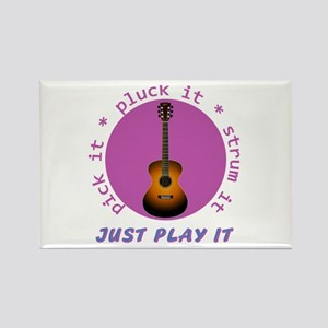 Just Play It - Guitar Rectangle Magnet