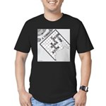 Rex and Ms. Twiggles (No Text) Men's Fitted T-Shir