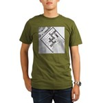 Rex and Ms. Twiggles (No Text) Organic Men's T-Shi