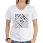 Rex and Ms. Twiggles (No Text) Women's V-Neck T-Sh