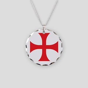 Knights Templar Necklace Circle Charm