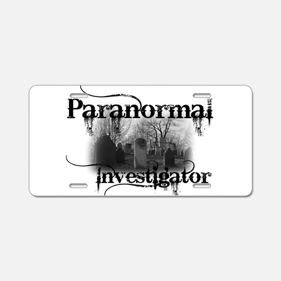 Unique Paranormal Aluminum License Plate