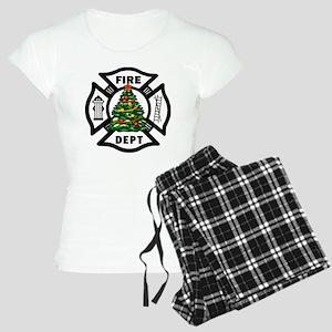 Firefighter Christmas Tree Women's Light Pajamas