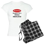 Female Firefighter Property Women's Light Pajamas