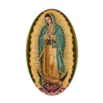 12 Lady of Guadalupe 22x14 Oval Wall Peel