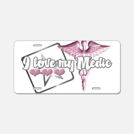 Funny Army medic Aluminum License Plate