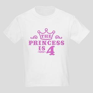4th Birthday Kids Light T-Shirt