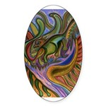 Valley Cat 18 Sticker (Oval 10 pk)