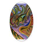 Valley Cat 18 Sticker (Oval 50 pk)