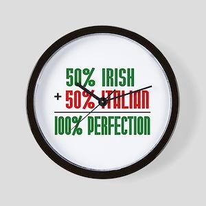 50% Irish + 50% Italian = 100 Wall Clock