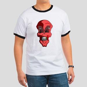 Red Skull Design Ringer T