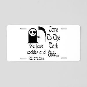 Dark Side Aluminum License Plate