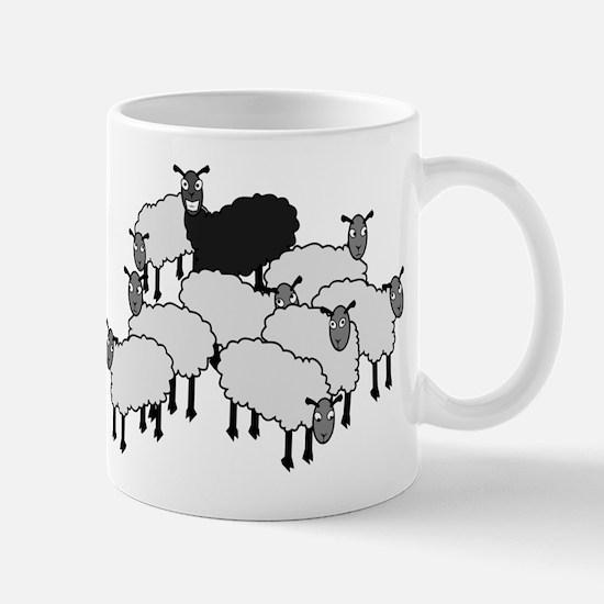 Black Sheep Cartoon Mug