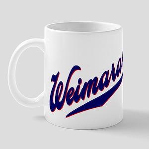 Weimaraners BASEBALL SCRIPT Mug