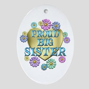 Proud Big Sister Ornament (Oval)