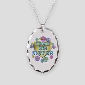 Proud Big Sister Necklace Oval Charm