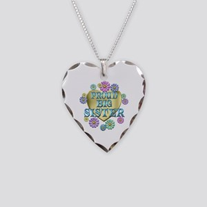 Proud Big Sister Necklace Heart Charm