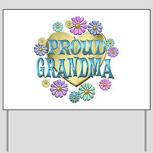 Proud Grandma Yard Sign