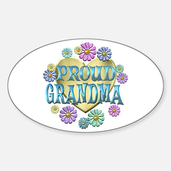 Proud Grandma Sticker (Oval)