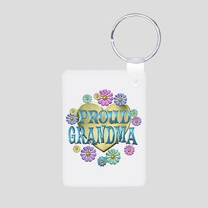 Proud Grandma Aluminum Photo Keychain