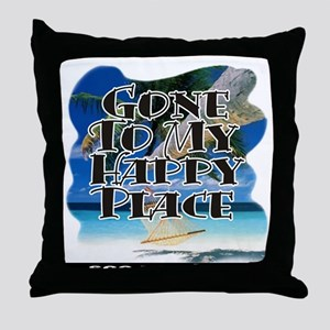 My Happy Place ~ Throw Pillow