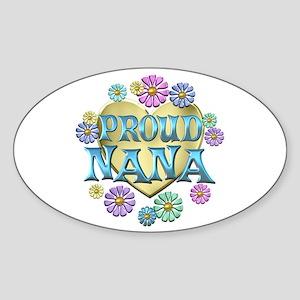 Proud Nana Sticker (Oval)