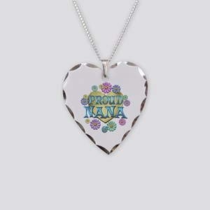 Proud Nana Necklace Heart Charm