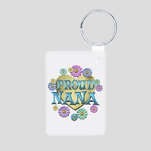 Proud Nana Aluminum Photo Keychain