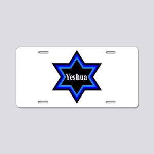 Yeshua Star of David Aluminum License Plate