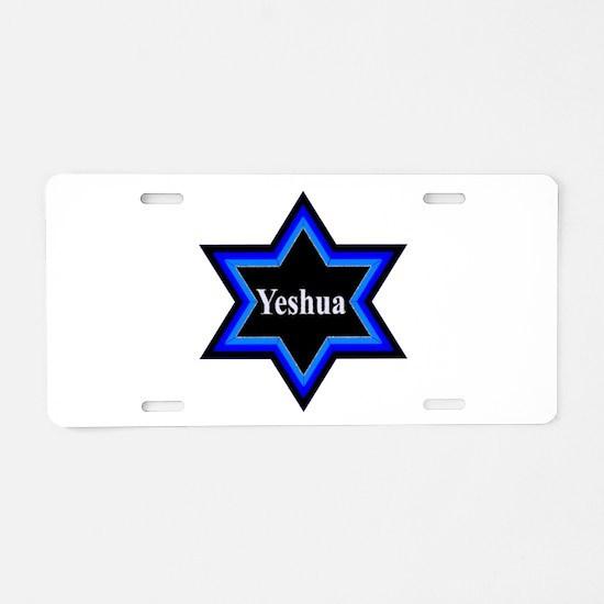 Yeshua Star of David Aluminum License Plate