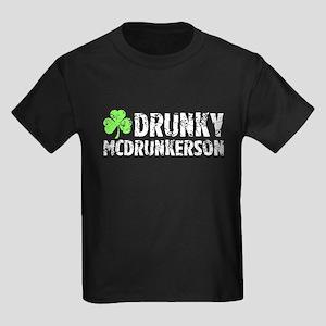 Drunky McDrunkerson Kids Dark T-Shirt