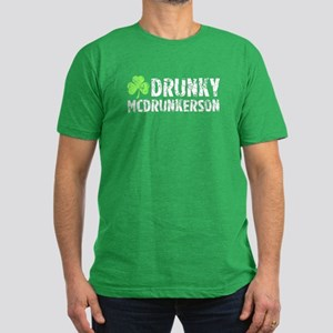Drunky McDrunkerson Men's Fitted T-Shirt (dark)