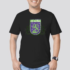 St. Urho Coat of Arms Men's Fitted T-Shirt (dark)