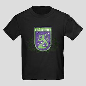St. Urho Coat of Arms Kids Dark T-Shirt