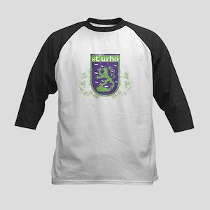 St. Urho Coat of Arms Kids Baseball Jersey