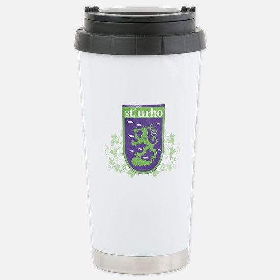 St. Urho Coat of Arms Stainless Steel Travel Mug