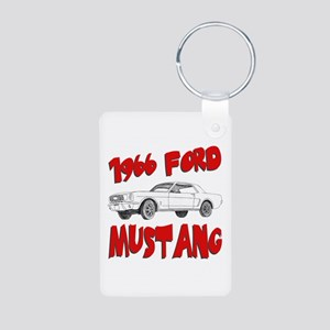 1966 Ford Mustang Aluminum Photo Keychain