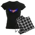 Heart Flag Women's Dark Pajamas