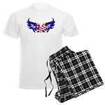 Heart Flag Men's Light Pajamas