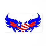 Heart Flag ver2 Aluminum License Plate