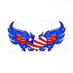 Heart Flag ver3 Aluminum License Plate