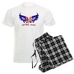 God Bless America Heart Flag Men's Light Pajamas